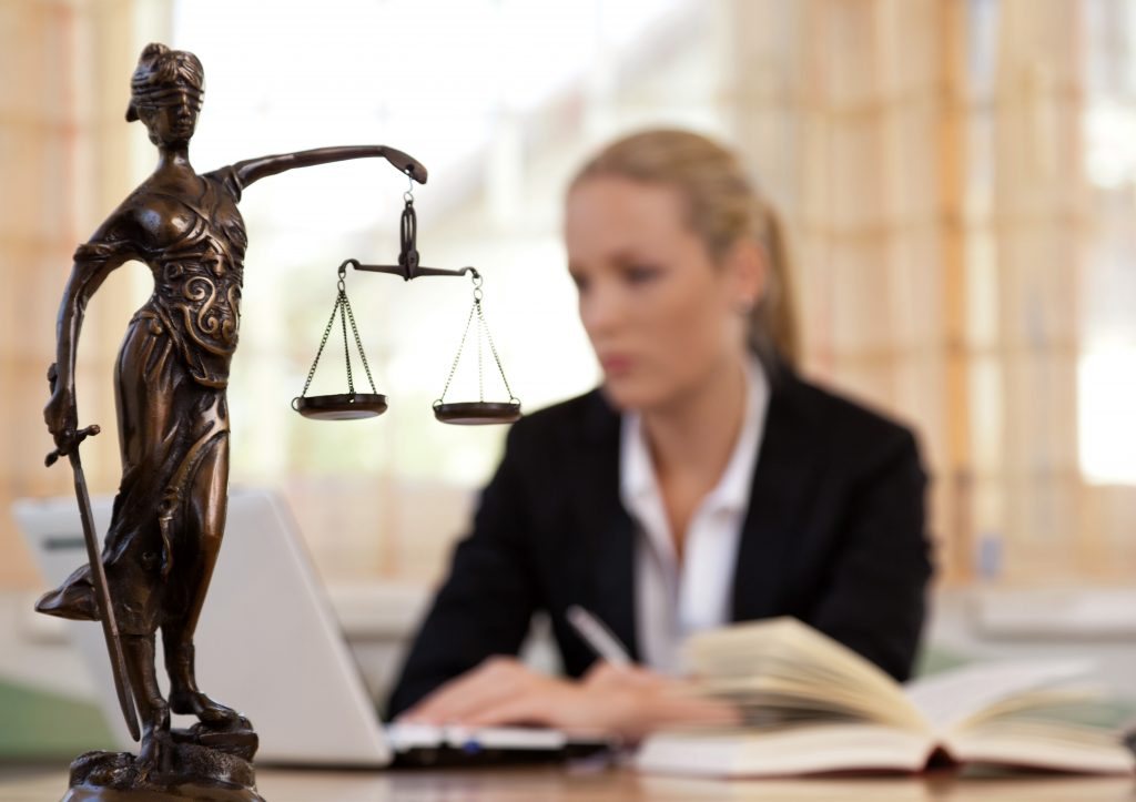A law officer working