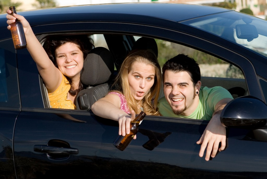 Teenagers drinking while driving