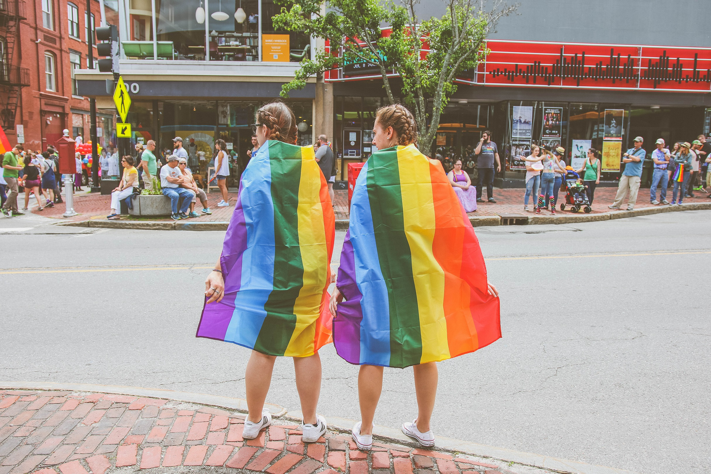 LGBT Couple with Flag