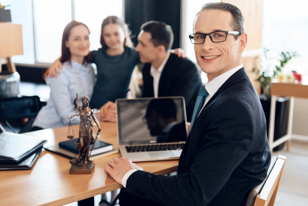 a lawyer with a family