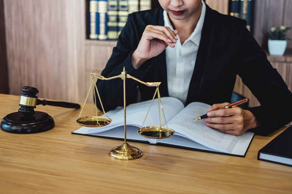 solicitor reviewing