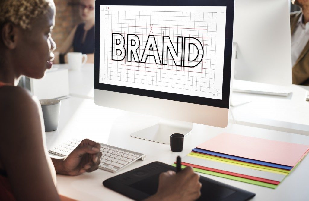 woman creating a brand