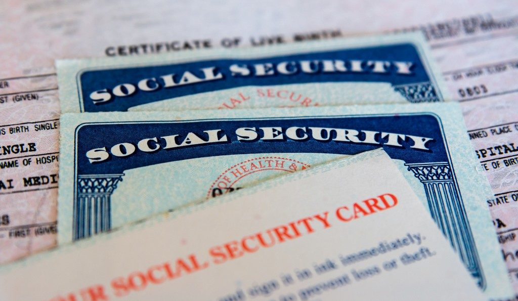 social security card and birth certificate